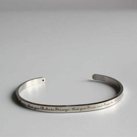Inspirational Buddhism Quote Bangles