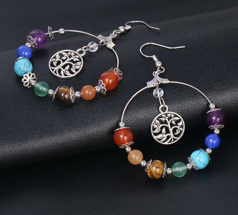 seven-chakra-tree-of-life-drop-earrings