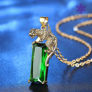 emerald-leopard-crystal-necklace-cosmic-curations