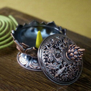 intricate-hand-made-tibetan-lotus-incense-burner