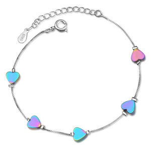New Gradient Color Heart Bracelet