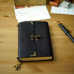 Explorers Leather Journal with Lock