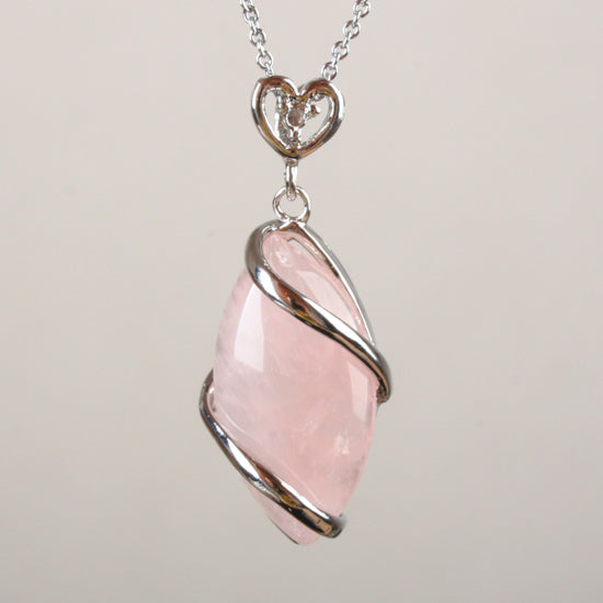 Marquise Natural Stone Wrapped Pendants