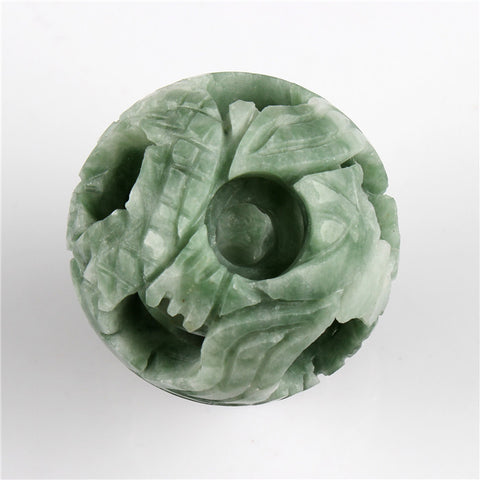 Stone Carved Jade Sphere