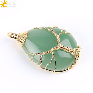 Tree of Life Natural Gemstone Pendant