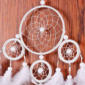 Enchanted White Forest Dream Catcher
