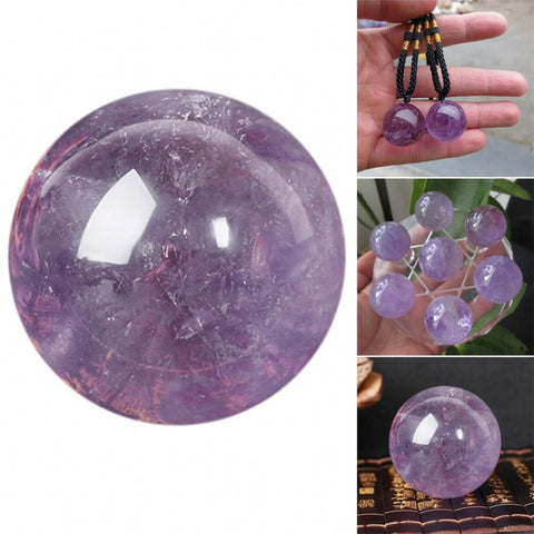 Hand Crafted Amethyst Healing Sphere