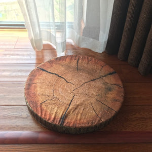Cushioned Creative Wood Slice Pillow