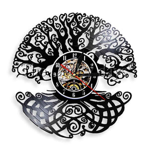 Celtic Tree of Life Vinyl Wall Clock