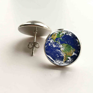 Earth and Space Cosmic Stud Earrings