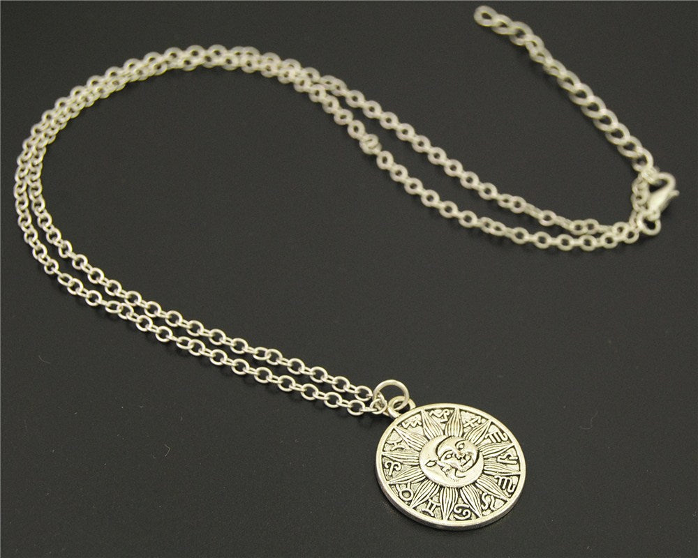 """The Sun & The Moon"" Astrological Medallion Necklace"