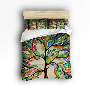 4 Piece Tree of Life Bedding Set