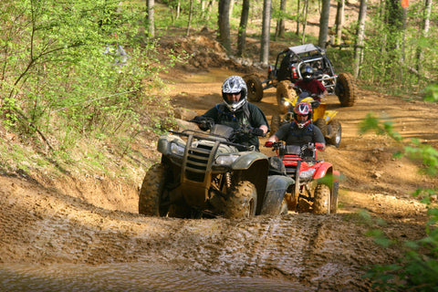 Riding ATVs in groups