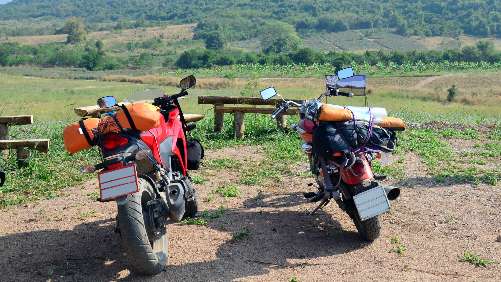 not overpack before motorcycle camping trip