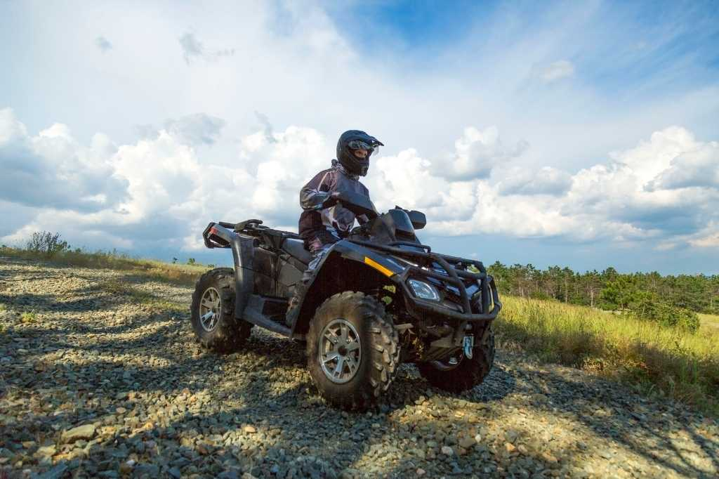 ATV pictured with a rider