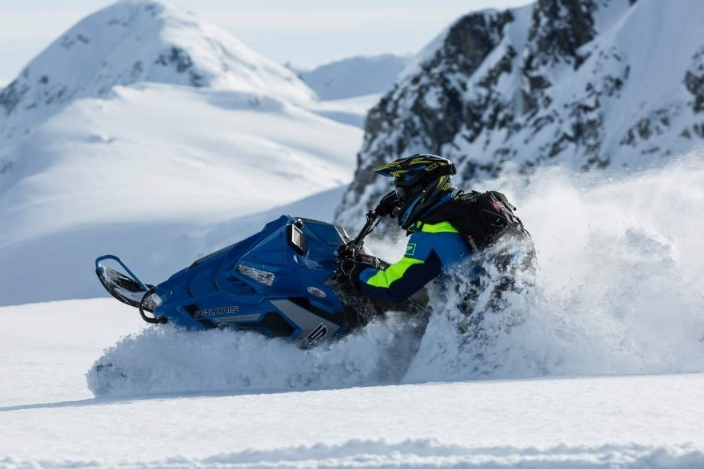 snowmobile is snow