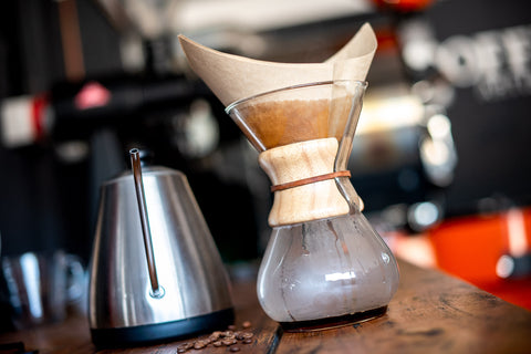 Chemex pour over coffee, our favourite