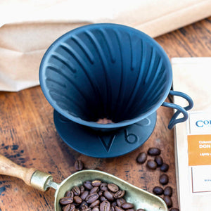 Hario V60 Matt Black Metal Coffee Dripper Size 02