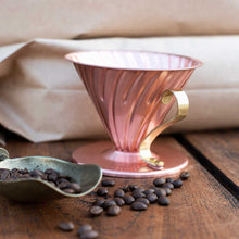 Load image into Gallery viewer, Hario V60 Copper Coffee Dripper Size 02