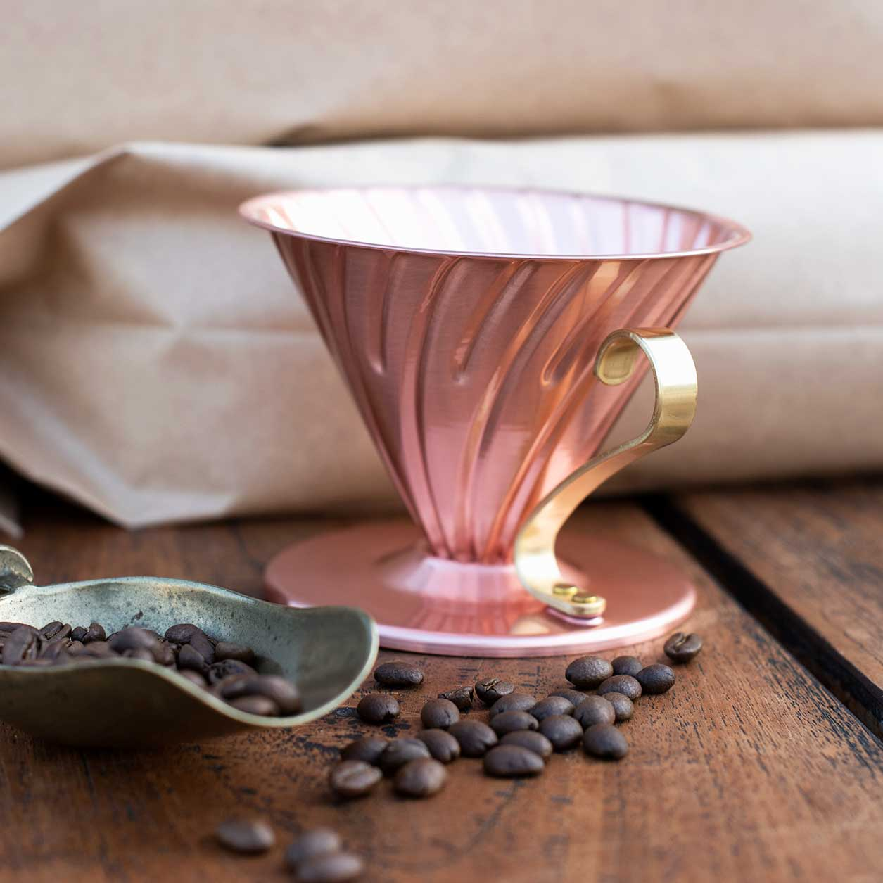 Hario V60 Copper Coffee Dripper Size 02