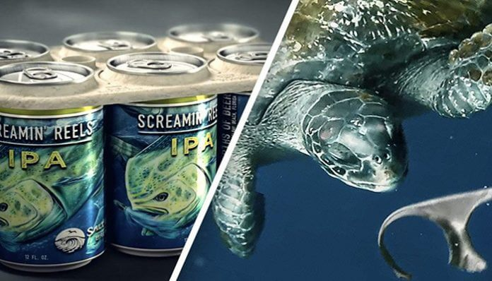 Brewery Creates Edible Six Pack Rings That Feed Sea Turtles Bead The Change