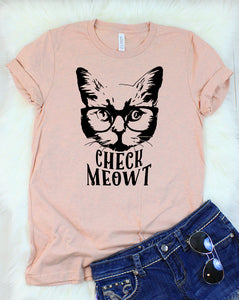 Check Meowt Cat T-Shirt