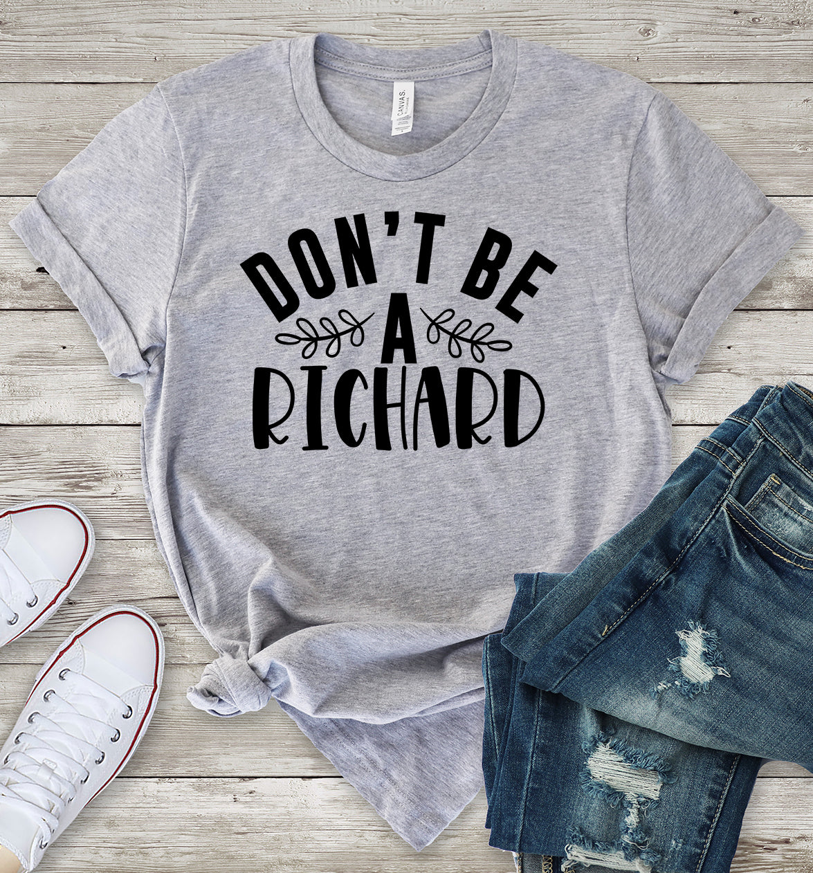 Don't Be a Richard Light Grey T-Shirt