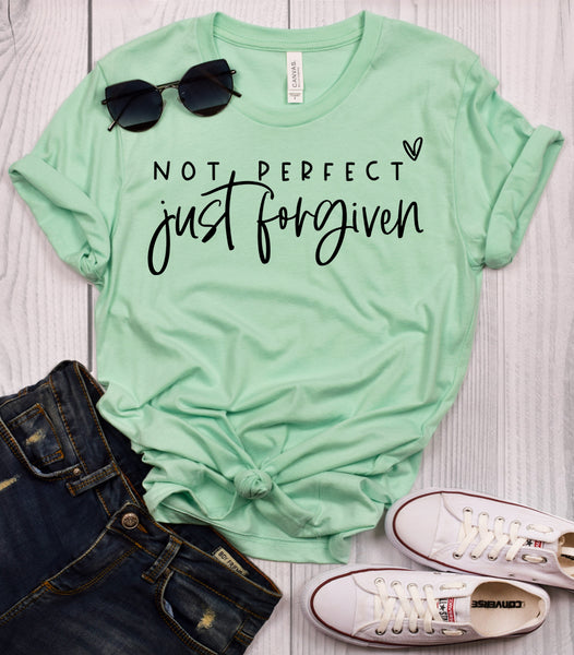 Not Perfect Just Forgiven Mint T-Shirt