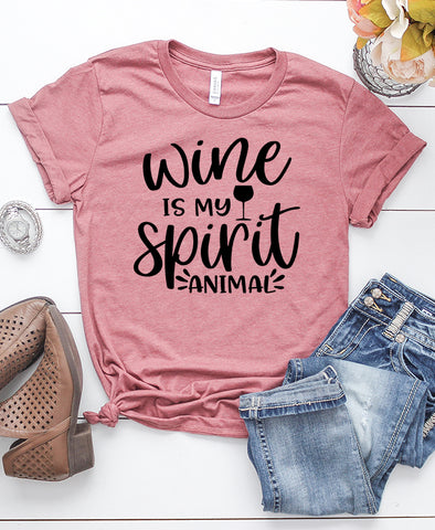 Wine is my Spirit Animal T-Shirt