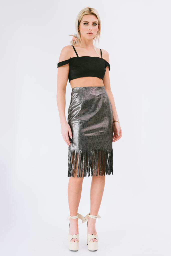 Sierra Fringe Skirt  - Mermaid