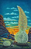 102 Sunset Silversword by Hawaii Artist Dietrich Varez