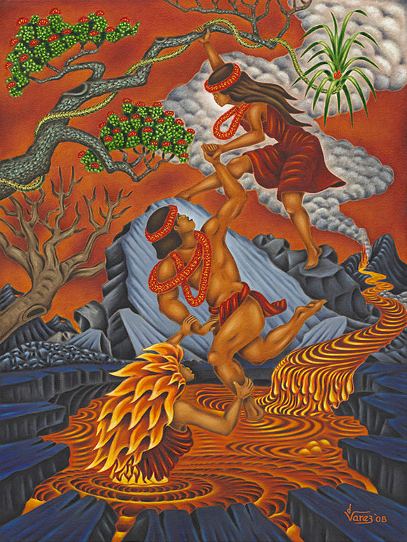 105 The Conflagration of Lohi'au by Hawaii Artist Dietrich Varez