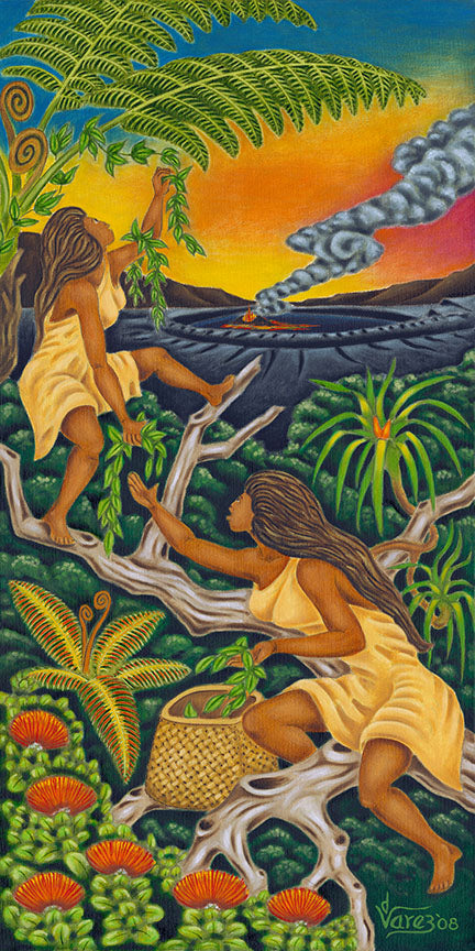 107 Maile Girls by Hawaii Artist Dietrich Varez