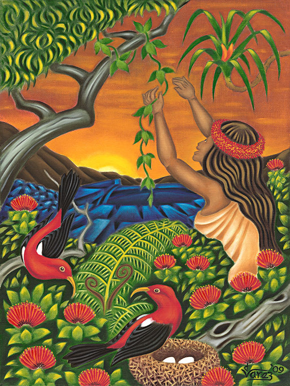 109 Maile Girl by Hawaii Artist Dietrich Varez