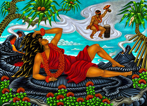 113 Pele Dreaming of Lohi'au by Hawaii Artist Dietrich Varez