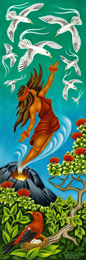 116 Pele with Tropicbirds by Hawaii Artist Dietrich Varez