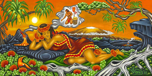 129 Pele Dreaming by Hawaii Artist Dietrich Varez