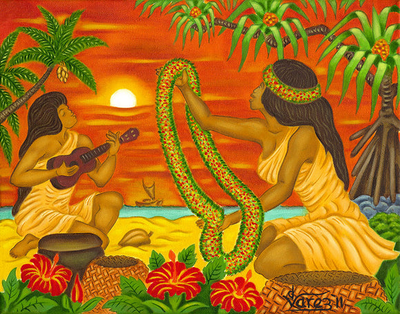 130 The Lei by Hawaii Artist Dietrich Varez