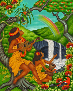 136 Rainbow Falls by Hawaii Artist Dietrich Varez