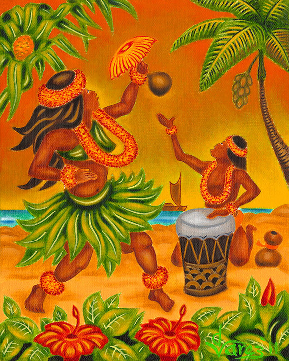 139 Hula by Hawaii Artist Dietrich Varez