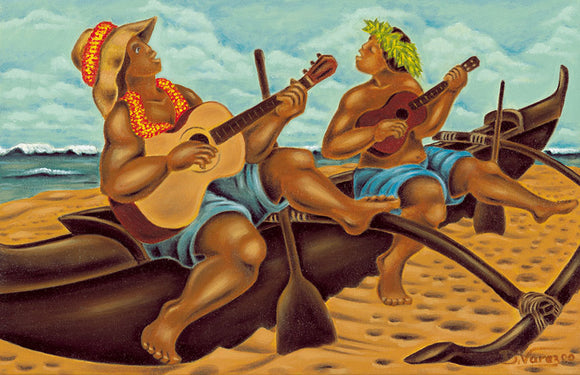 13 Canoe Serenaders by Hawaii Artist Dietrich Varez