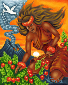 144 'Ohelo Berries for Pele by Hawaii Artist Dietrich Varez