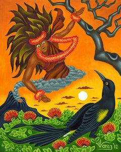 151 Pele and the 'O'o Bird by Hawaii Artist Dietrich Varez