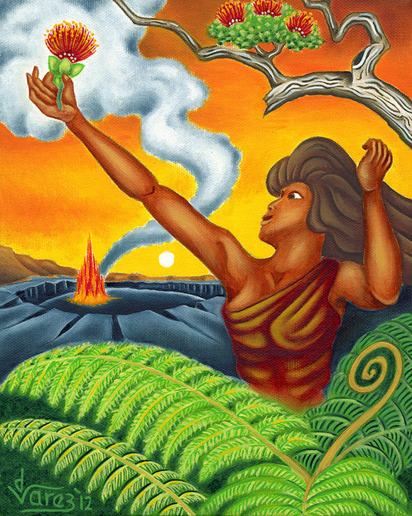 154 Behold the Lehua Blossom by Hawaii Artist Dietrich Varez
