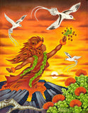 155 Pele Offers 'Ohelo Berries to Tropicbirds by Hawaii Artist Dietrich Varez