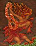 158 Pele and her Lei of Fire by Hawaii Artist Dietrich Varez