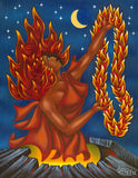 159 Pele and her Lei of Fire by Hawaii Artist Dietrich Varez