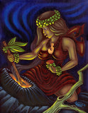 161 Pele with Pa'oa by Hawaii Artist Dietrich Varez