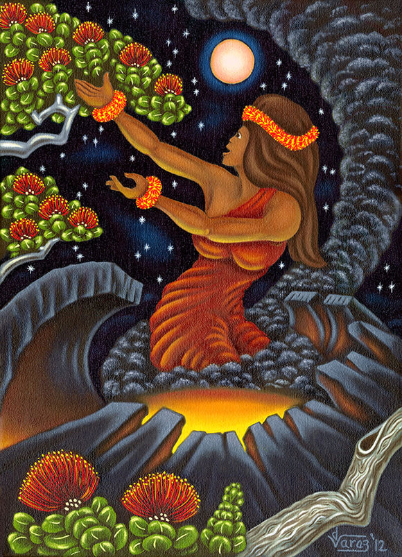 162 Pele at Night by Hawaii Artist Dietrich Varez