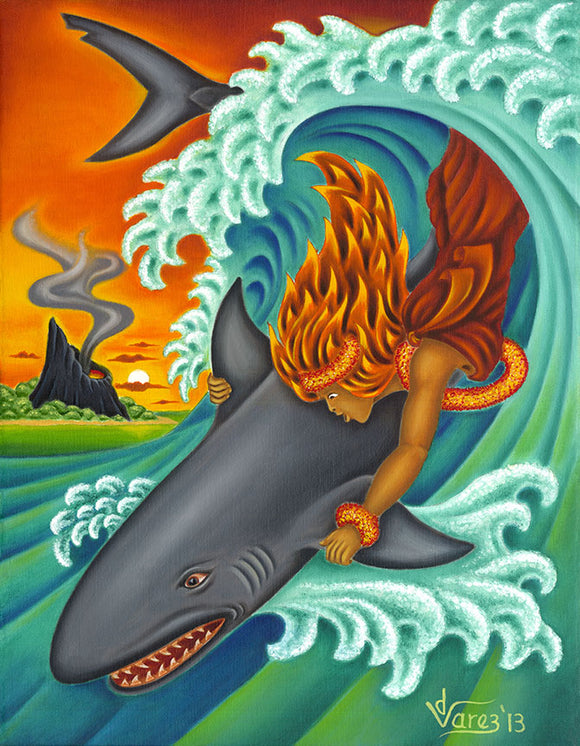 164 Pele and Kamohoali'i by Hawaii Artist Dietrich Varez
